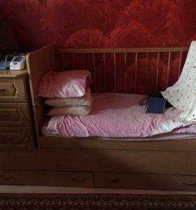 Детская кровать-трансформер с качалкой