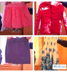 Различные вещи,куртки ,рубашки,платья