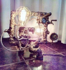 Лампа в стиле стимпанк на любителя