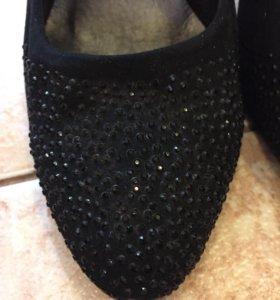 Туфли женские натуральный замш