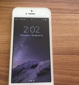 Золотой,идеальный IPhone SE 64gb
