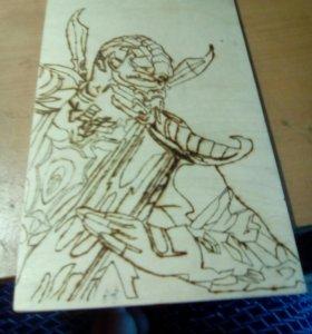 Выженная картина Скорпион боец мк
