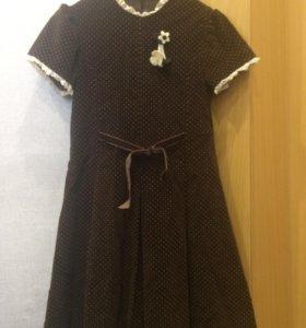 Платье для девочки(велюр)
