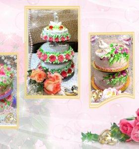 Свадебные торты на заказ в Ершове.