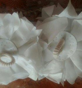 Бантики белые новые