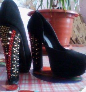 туфли черные 36р новые