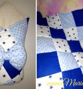 Лоскутное одеялко на выписку 🐣