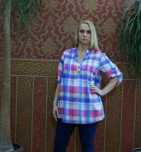 Новая рубашка с кожаным поясом беременным, кормящи