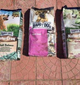 Корм для собак крупных пород Happy dog 15 кг