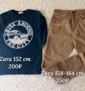 Zara джинсы и лонгслив