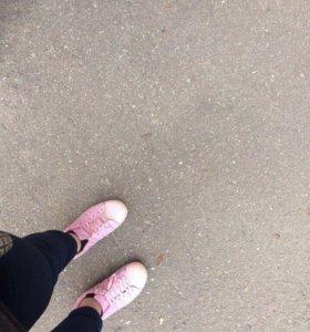 Adidas super star розовые