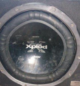 Сабвуфер sony xplod 1300w