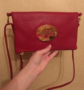 Красная сумка mulberry