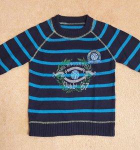 Теплый свитер для мальчика. Размер 116/122