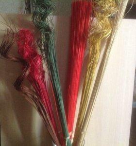 Ветки декоративные и ротанговые прутья
