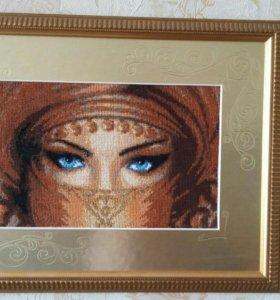 Картина вышивка крестом Взгляд от ЗР