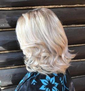 Растяжка цвета+ лечебное окрашивание волос