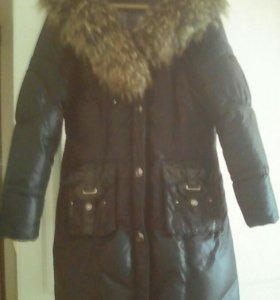 Зимнее пальто тёплое