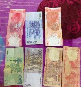 Деньги и монеты разных стран