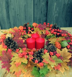 Осенний интерьерный венок