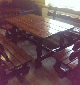 Набор стол и скамейки
