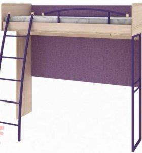 Кровать-чердак с матрасом