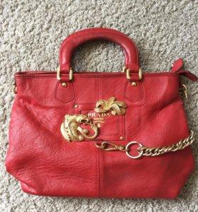 Кожаная сумка Prada оригинал❤️