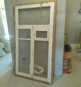 Окна деревяные б/у 10 шт размеры 1800×1200