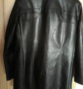 Куртка Новая кожаная Удлиненная 54-56