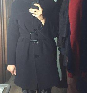 Пальто шерстяное+подарок браслет