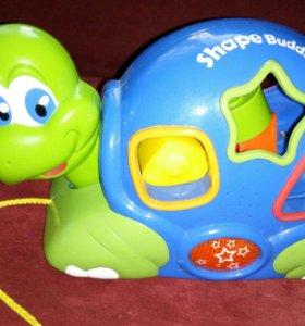 Музыкальная черепаха сортер на колесах