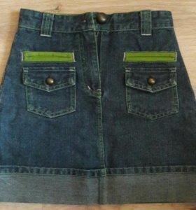 Джинсовая юбочка размер 122