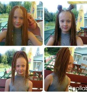 Плетение сенегальских кос