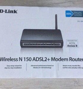 Продам Маршрутизатор ADSL2+ D-Link DSL-2640U