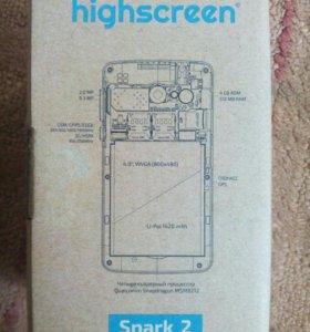 highscreen spark 2 + чехол книжка в подарок