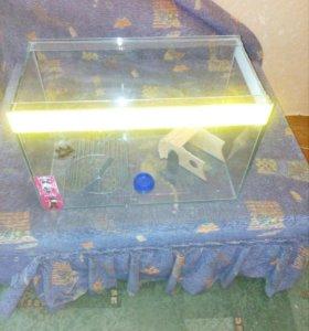 Продам аквариум 30-40 литров.