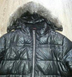 Куртка зимняя эко кожа.