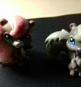 Фигурки Littles Pets Shop - белочки.