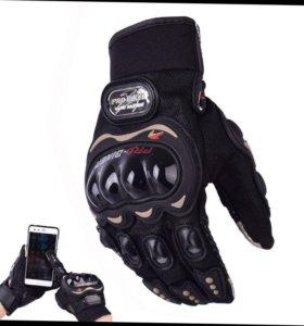 Байкер перчатки