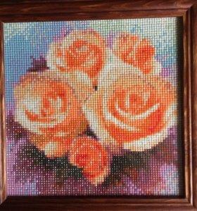 """Картина из алмазной мозаики """"Розы"""""""