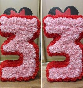 Продается Объемная цифра для декора дня рождения