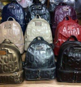 кожа женский рюкзак chanel marc jacobs сумка