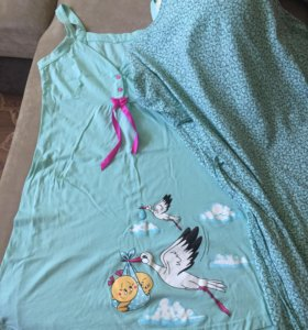 Комплект халат и ночнушка