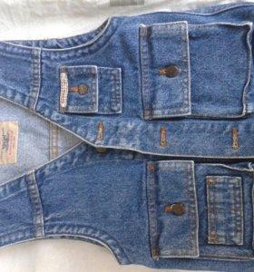 джинсовая жилетка 104-110