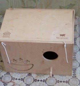 Гнездо для разведения попугаев