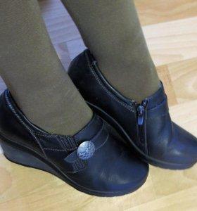 Туфли (ботильоны) кожаные
