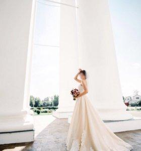Свадебное платье Jasmine Empire Blanc