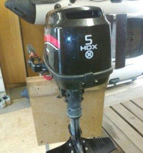 Лодочный мотор HDX 5 л.с 4 тактный