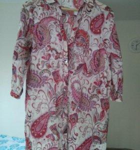 Рубашка длинная из Zara