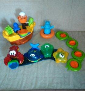 Игрушки для ванной. Корабль и др.